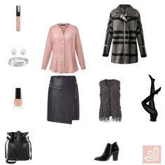 Outfit »Grau & Rosé rockig«