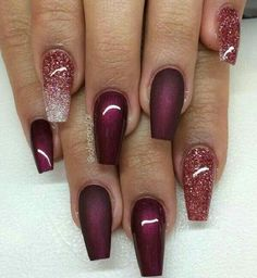 Maroon and sparkles