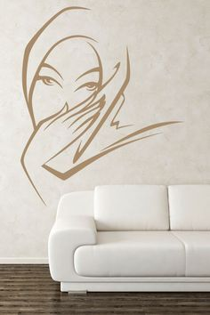 Middle Eastern Women Wall Sticker. Bring a true taste of exotic culture into your home through this delicate and expressive wall decoration for your living room or patio walls showing a very petite Middle Eastern woman. http://walliv.com/middle-eastern-women-wall-sticker-art-decal