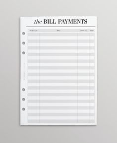 PRINTED A5 Planner Inserts   Bill Pay A5 Filofax Inserts   Budget Planner Kikki K Large Inserts   Financial Planner A5   Crossbow Printables