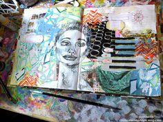 Mixed Media Art Journal Page - jenny