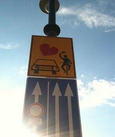 Budapest Bicycle Signage
