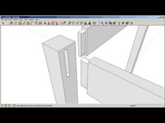 Sketchup: Mortise and tenon joinery - YouTube