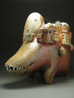 Ceramic creatures by Eva Funderburgh