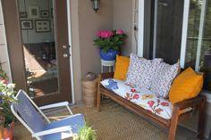 colorful condo patio