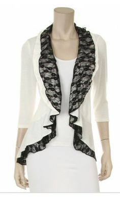 Womens 3/4 sleeve lace ruffled cardigan! - Apostolic Clothing #modest #clothing