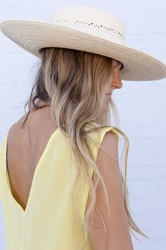 straw hat yellow dress {perfect combo}