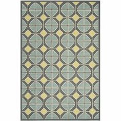 """Loomed indoor/outdoor rug with a mosaic-inspired motif. Made in Turkey.   Product: RugConstruction Material: PolypropyleneColor: Dark grey and light blueFeatures:  Made in TurkeyPower-loomedSuitable for indoor and outdoor use Pile Height: 0.25"""" Note: Please be aware that actual colors may vary from those shown on your screen. Accent rugs may also not show the entire pattern that the corresponding area rugs have.Cleaning and Care: Professional cleaning recommended"""