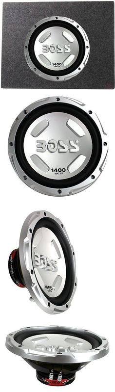 Car Subwoofers: Boss Chaos 12 1400 Watt Power Subwoofer 4 Ohm + 12 Sealed Sub Box Enclosure -> BUY IT NOW ONLY: $59.95 on eBay!