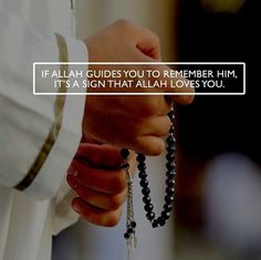 """ If Allah guides you to Remember Him, It's a sign that Allah loves you. Allah Quotes, Muslim Quotes, Religious Quotes, Words Quotes, Story Quotes, Life Quotes, Hadith, Alhamdulillah, Islamic Inspirational Quotes"