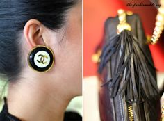 #vintage #chanel #jumbo #bold #rare #tassel rare vintage jumbo oversized Chanel earrings  http://www.thefashionableesq.blogspot.com/2013/12/ootd-casual-cute-outfit-with-boyfriend.html