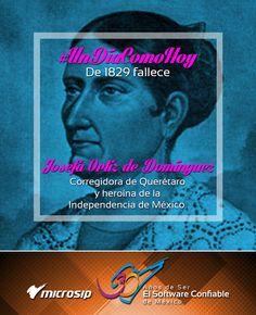 #UnDíaComoHoy 1º de marzo pero de 1829 fallece Josefa Ortiz de Domínguez, corregidora de Querétaro y heroína de la Independencia de México.