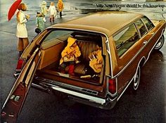 Sitting backwards in the station wagon...oh the memories!