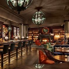 16 London Bars All Book Lovers Must Visit - Scarfes Bar, Holborn The Rosewood Hotel knows a thing or two about comfort, made clear in its delightfully cosy bar, Scarfes, without a doubt a book lover's dream bar. The classy pub has an epic collection of books and comfy spots to sit and read, not to mention a killer cocktail menu.