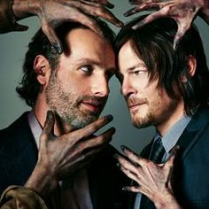 Andrew Lincoln and Norman Reedus = Bromance