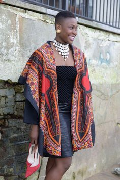 NEW Dashiki print on black wool coat by Gitas Portal door GitasPortal op Etsy https://www.etsy.com/nl/listing/253469230/new-dashiki-print-on-black-wool-coat-by
