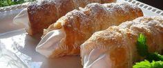 Kremrole z listového těsta Baked Potato, Potatoes, Bread, Baking, Ethnic Recipes, Food, Bakken, Eten, Potato