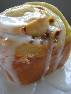 "Orange Pecan Rolls - Not a cinnamon roll in disguise but ""real"" orange pecan rolls. Yum!"