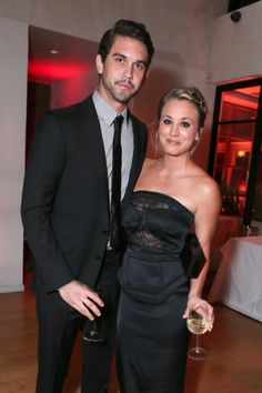 Ryan Sweeting and Kaley Cuoco at the 2013 Entertainment Weekly Emmy Pre-Party at  Fig & Olive.  #Emmy #Celebrities