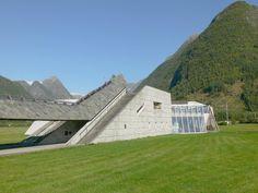 Norwegian Glacier Museum by Architect Sverre Fehn: Stairs at the Norwegian Glacier Museum
