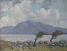 Connemara: Windswept Trees Photograph of a painting by the Irish artist, Paul Henry.
