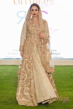Gold Bridal Lengha RDC-INDIAN-PAKISTANI-WEDDING-FASHION