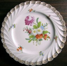 Decorative Dishes - Shabby Euro Porcelain Pink Rose Gold Edge Swirl Hand Painted Plate, $19.99 (http://www.decorativedishes.net/shabby-euro-porcelain-pink-rose-gold-edge-swirl-hand-painted-plate/)