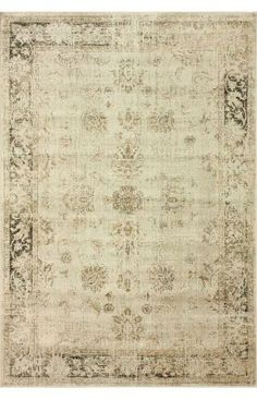 Adileh - Rugs USA - looks antique and has taupes, greys, and a tiny hit of black - necessary in every room. :)