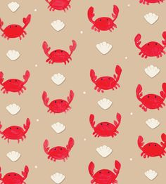 shore society: crab pattern