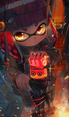 Super dramatic squid.