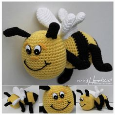 Bibi is er! Crochet Bee, Freeform Crochet, Cute Crochet, Crochet Dolls, Crochet Hats, Lidl, Amigurumi Patterns, Crochet Patterns, Baby Stuffed Animals