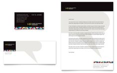 Contractor Business Card And Letterhead Template Design By