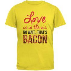 Love, No Wait.. Bacon Yellow Adult T-Shirt