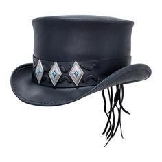 353e72287f9c4 Voodoo Hatter El Dorado Top Hat w/ Concho - American Hat Makers – Head'
