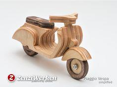 /'Fair Trade/' Wooden Model Classic Vespa Scooter.