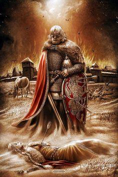 Оригинал взят у lyubows в Картины Игоря Евгеньевича Ожиганова. Встреча Священный огонь Белбог Белобог — предполагаемое западнославянское божество. Данное божество…
