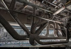 industrial octopus pipes by urbex-bassie, via Flickr