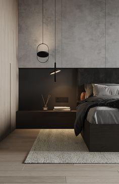 Minimal Bedroom Design, Modern Bedroom, Home Bedroom, Bedroom Decor, Interior Architecture, Interior Design, Apartment Projects, Bedroom Layouts, Bed Design