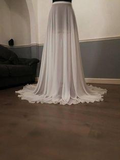 Separates Wedding BLOSSOM Overskirt bridal maxi Detachable Detachable Wedding Skirt, Bridesmaid Dresses, Prom Dresses, Wedding Dresses, Bridal Skirts, Wedding Jumpsuit, Devil Wears Prada, Chiffon Skirt, White Skirts