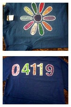 Girl Scout Daisy Shirts we made for our troop since they don't have their vests yet.