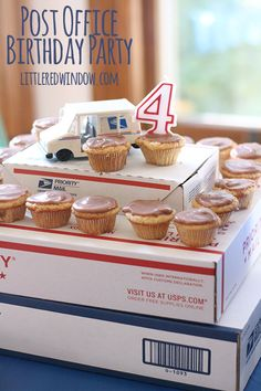Plan a fun Post Office Birthday Party for your little mail carrier! | littleredwindow.com