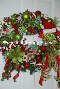 The Grinch Who Stole Christmas Wreath by party props