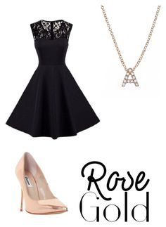 """""""A's ma name #rosegold"""" by alex-menzies ❤ liked on Polyvore featuring Bony Levy and Dune"""