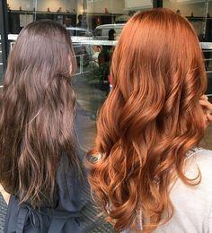 - Jean, quero ficar mas morro de medo de descolorir o cabelo! E agora? A gente faz só com… Curly Hair Styles, Natural Hair Styles, Hair Color And Cut, Auburn Hair, Ginger Hair, Ombre Hair, Hair Dos, Gorgeous Hair, Pretty Hairstyles
