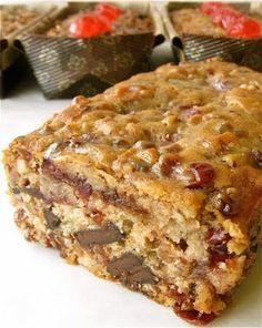 Chocolate fruitcake | This cake is delicious!!! It's not your mother's fruitcake. It will become one of our family traditions.