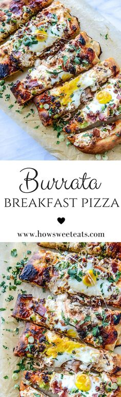 burrata breakfast pizza by @howsweeteats I howsweeteats.com