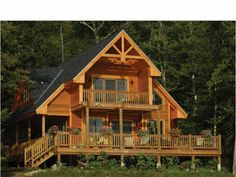 Here's what you want in a cabin: porches, porches, and more porches!