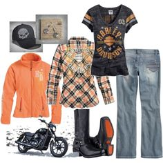"""""""HARLEY-DAVIDSON WOMENS MOTORCLOTHES"""" by daniellemousette3 on Polyvore"""