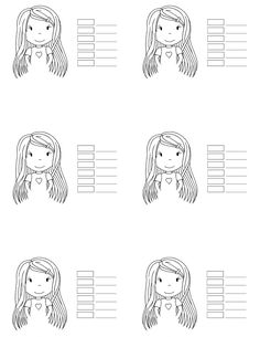 printable copic color pages   The Paper Nest: Copic Hair Color 1...