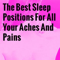 The Best Sleep Positions For All Your Aches And Pains Sleep doesn't have to be elusive if you have a chronic pain condition. back pain meme Best Sleep Positions, Chronic Pain Quotes, Health Tips, Health And Wellness, Arm Workouts At Home, Massage Benefits, Back Pain Relief, Feeling Sick, Pain Management
